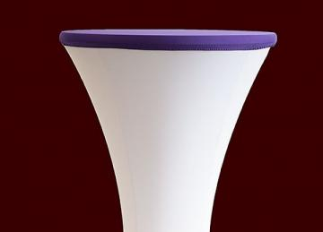 Lycra Cocktail Table toppers Size B - Purple