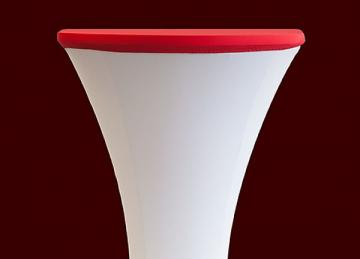 Lycra Cocktail Table toppers Size B - Red
