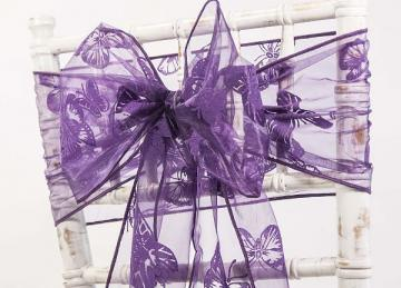 Organza Butterfly Sash - Purple