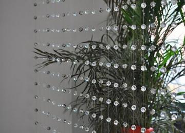 Clear Crystal Faceted Round Bead Curtain 3 Meter Length