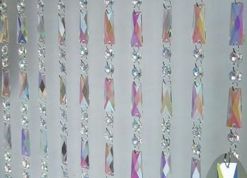 Iridescent Crystal Curtain