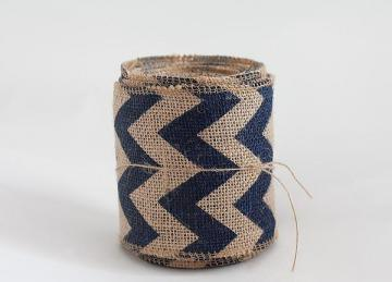 Hessian Roll with Navy Chevron Print