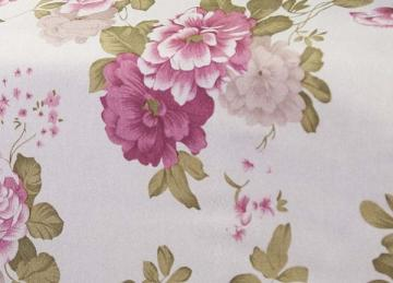 Vintage Cabbage Rose Print Taffeta Fabric