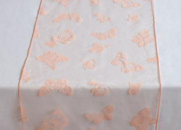 Butterfly Organza Table Runners - Pale Pink