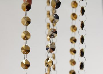 Metallic Gold 14mm Crystal Garland Strand