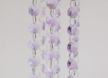 Glass Crystal Garland Strand 14mm/1M -  Purple