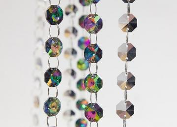 Mirror Faced 14mm Glass Crystal Garland Strand