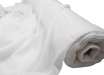 Voile 1.5M Wide Fabric Roll 50m - White