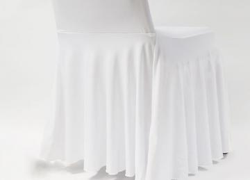 White Spandex Lycra Skirt Cover