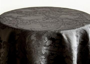 Damask Table Cloths 132 - Black