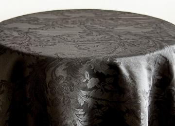 Damask Table Cloths 120 - Black