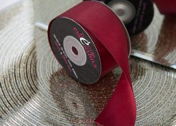 Decor Essential Satin Ribbon 38mm x 20m - Burgandy