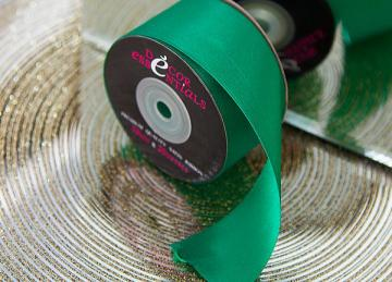 Decor Essential Satin Ribbon 38mm x 20m - Emerald Green