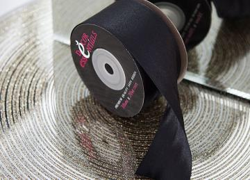 Decor Essential Satin Ribbon 38mm x 20m - Black
