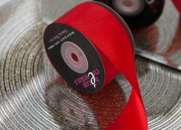 Decor Essential Satin Ribbon 38mm x 20m - Red