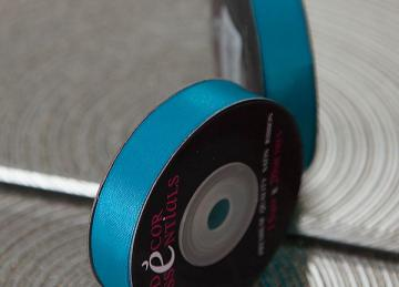 Decor Essential Satin Ribbon 15mm x 20m - Turquoise Blue