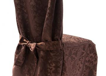 Dining Chaircovers with Ties RJ03 - Brown