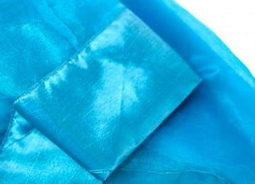 Organza Overlay with Taffeta Border - Teal