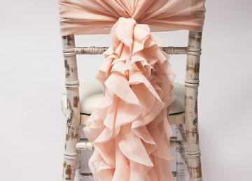 Chiffon Hood with Ruffles -  Blush Pink