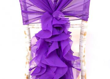 Chiffon Hood with Ruffles -  Ultra Purple