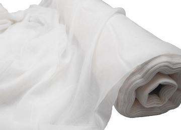 Voile Fabric 2.8M Wide FR 50 M Roll - White