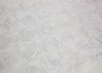 Rosette Table Runner - White