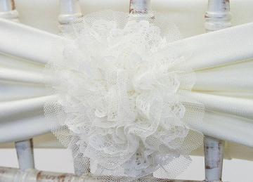 Lace Flower Clips - Ivory