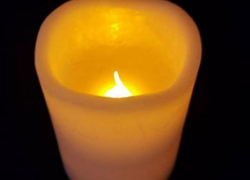 LED Wax Church Candles 7.5cm x 10cm (small)