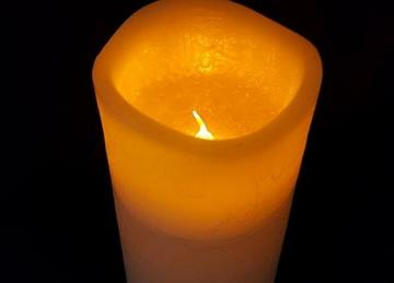 LED Wax Church Candles 7.5cm x 12.5cm (medium)