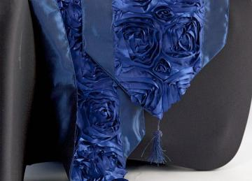 Floral Runner with Tassel - Royal