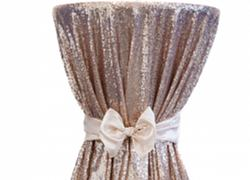 Sequin 120 Table Cloth - Blush Pink