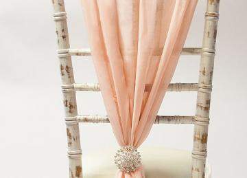 Chiffon Vertical Drops - Blush Pink