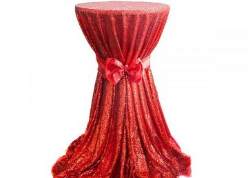 Sequin 132 Table Cloth - Red