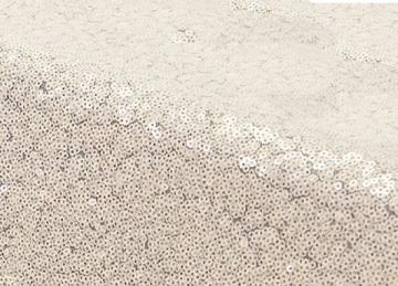 Sequin 70x144 Table Cloth - Ivory