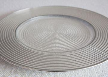 Charger Plate Spiral Design - Silver