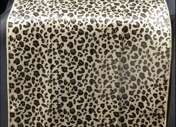 Leopard Print Satin Table Runner - 14 x 108