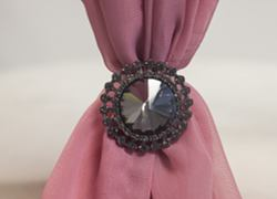 Black Diamanate Mini Brooch M7062 - 6 Pack