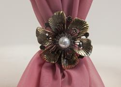 Gold Vintage Flower Brooch - 6 Pack