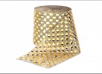 Chrome Mesh Roll Square - Gold