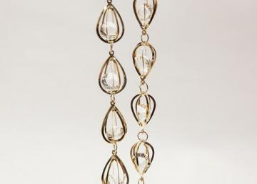 Luxor Gold Crystal Tear Strand 1M