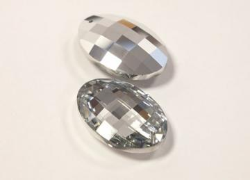 Crystal Drop Oval DF63 - Silver