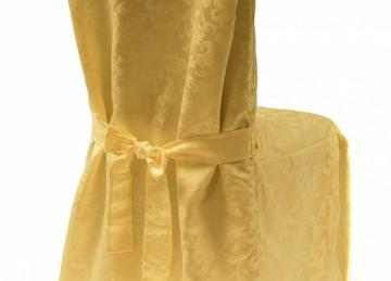 Dining Chaircovers with Ties RJ03 - Gold