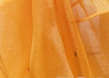 Square Organza Overlay 90 x 90 - Orange