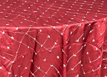 Embroidered Taffeta Garnet 120