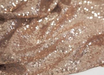 Sequin Fabric Roll 20M - Champagne