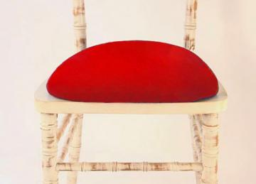 Spandex Seat Pad Covers - Red