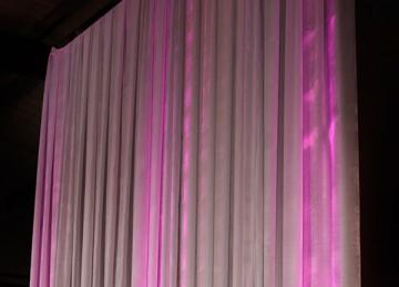 Ivory Pleated Drape Backdrop