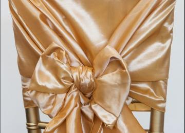 Taffeta Chair Hood - Light Gold