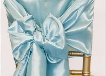 Taffeta Chair Hood - Ice Blue
