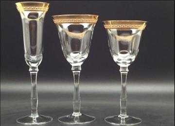 Champagne Decal Glass - Gold